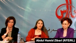 رئيسة جامعة اللاعنف اللبنانية تحاضر في اربيل