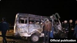 Վթար Գյումրի-Երևան ավտոճանապարհին` Հոռոմ գյուղի խաչմերուկում, 10-ը նոյեմբերի, 2014թ.