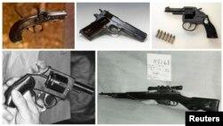 Зброя, якой рабіліся замахі на прэзыдэнтаў ЗША ў апошнія паўтара стагодзьдзі.