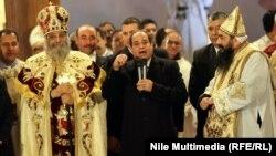 الرئيس المصري عبد الفتاح السيسي يتحدث في الكاتدرائية المرقسية بالقاهرة