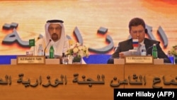 Saudi Energy Minister Khaled al-Faleh (center) and Russian Energy Minister Aleksandr Novak at a recent OPEC meeting.