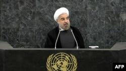 Hassan Rohani gjatë fjalimit të sotëm në Kombet e Bashkuara