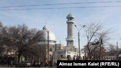 Officials say the Bishkek central city mosque (pictured) and the banned Tabligi Jamaat movement were also involved in sending abroad several boys aged between 10 and 15.