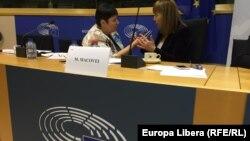 În timpul interviului la Strasbourg