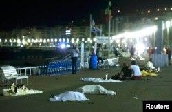 La Nisa după atentat...