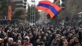Акцыя за адстаўку прэм'ер-міністра Армэніі Нікола Пашыньяна, Ерэван, 25 лютага 2021