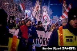 Протесты в Будапеште. Декабрь 2018 года