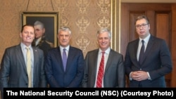 Richard Grenell, Hashim Thaci, Robert O'Brien i Aleksandar Vučić