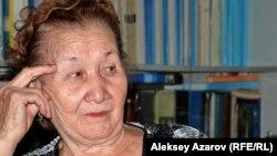 Ахмет Байтұрсынұлының жиені Айман Байсалова. Aлматы, 3 қыркүйек 2012.