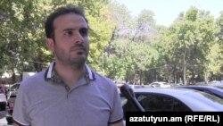 Armenia -- Activist Arshak Musakhanian speaks to RFE/RL's Armenian service, Yerevan, 17Sep2015.