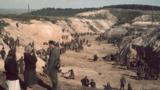 Ukraine - Nazi massacre of Jews at Babyn Yar (Babi Yar) on September 29-30, 1941 - workers in the ravine - creative commons