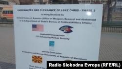 Акција за деминирање на Охридското Езеро.