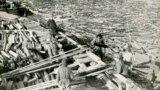 Во время строительства Нижне-Свирской гидроэлектростанции силами заключенных. Свирские лагеря. Начало 1930-х