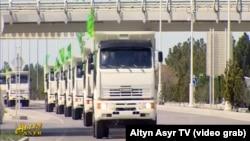 Türkmenistan goňşy ýurtlara kömek iberýär.