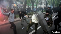 Clashes in Donetsk.