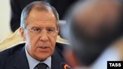 Russia -- Russian Foreign Minister Sergei Lavrov during a meeting with his Iraqi counterpart Hoshyar Zebari (unseen) in Moscow, 15Jun2012