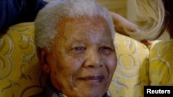 Former President Nelson Mandela at his home in Qunu in August 2012