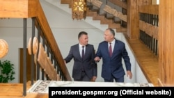 La ultima întrevedere Igor Dodon-Vadim Krasnoselski care a avut loc la reşedinţa prezidenţială de la Condriţa