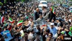 Президент Ирана в Мешхеде, 10 мая