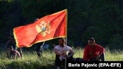 Crnogorska zastava tokom proslavljanja Dana nezavisnosti na Cetinju (21. maj 2021.)