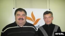 Володимир Бондаренко та Олександр Бондар у студії Радіо Свобода