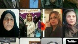 شماری از امضاکنندگان بیانیههای اخیر که در تهران و مشهد بازداشت شدهاند. از راست: پوران ناظمی، نرگس منصوری (بازداشتشده در تهران) حوریه فرجزاده طارانی و فاطمه سپهری
