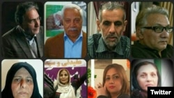 Some of the activists detained in Iran in the past ten days.