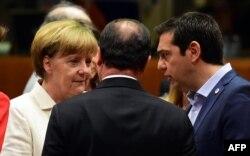 Ангела Меркель, Алексис Ципрас и Франсуа Олланд провели вместе немало непростых часов