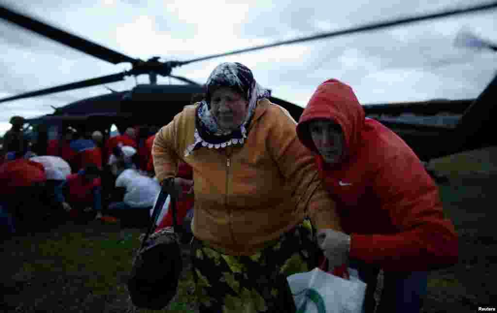 Эвакуационные работы в Боснии и Герцеговине.