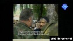 Snimak iz Srebrenice prikazan na suđenju