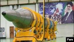 Ілюстрацыйнае фота. Іранская балістычная ракета