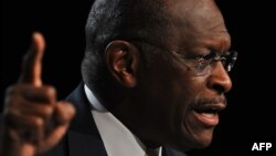 Former Republican U.S. presidential candidate Herman Cain