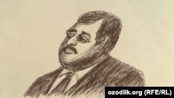 Сурати Ҳаёт Шарифхоҷаев, ки аз ҷониби рассоми номаълум наққошӣ шудааст