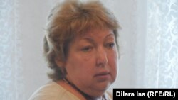 """Central Asia Monitor"" газетінің журналисі Рамзия Юнусова. Шымкент, 31 шілде 2015 жыл."