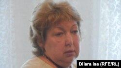 Рамзия Юнусова, корреспондент республиканской газеты Central Asia Monitor, в зале суда. Шымкент, 31 июля 2015 года.