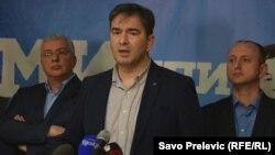 Nebojša Medojović sa ostalim liderima Demokratskog fronta