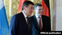 President Sooronbay Jeenbekov arrived in Germany on April 15.