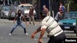 Fotografi arkivi nga përleshjet në Egjipt