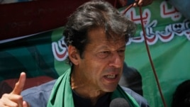 Pakistani cricketer-turned-politician Imran Khan