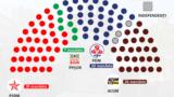 Repartiția locurilor în actualul Parlament