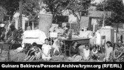Выселенная из дома крымскотатарская семья