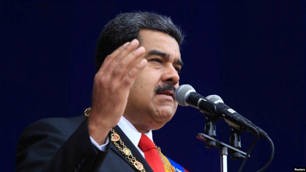 Президент Венесуэлы Николас Мадуро в Каракасе, 4 августа 2018 года
