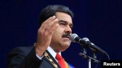 Николас Мадуро на военном параде в Каракасе. 4 августа 2018 года.