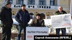 """Пикет в поддержку """"Комитета против пыток"""" в Нижнем Новгороде. Март 2016"""