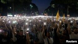 Опозициски протест во Тирана на 21 јуни 2019