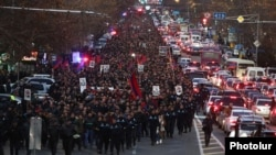 Armenia - Thousands of people mark the 11th anniversary of deadly post-election violence in Yerevan, March 1, 2019.