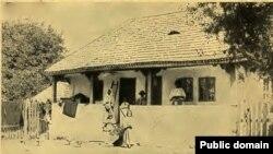 Casa unui țăran bogat într-un sat din România, Sursa: Lady Kennard, A Roumanian Diary, 1915, 1916, 1917, New York, 1918