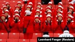 Олимпиададағы Солтүстік Корея фанаттары
