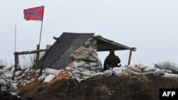 Блок-пост сепаратистов в районе Енакиева. Февраль 2015 года