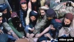 """Скриншот видео о боевиках """"Исламского движения Узбекистана""""."""